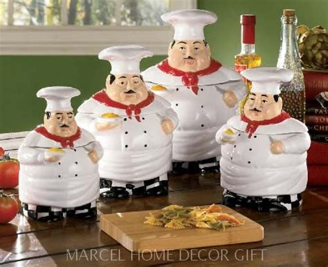Chef Kitchen Decor Items by Italian Chef Kitchen Decor Items Chef Canister Set