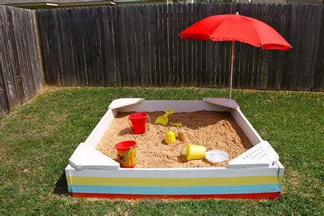 backyard sandpit backyard sandbox made everyday