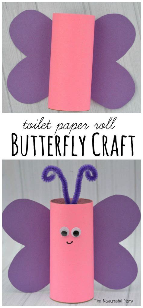 Paper Craft Butterflies - best 25 toilet paper roll crafts ideas on