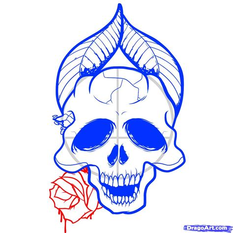 draw with how to draw skulls and roses skulls and roses step by