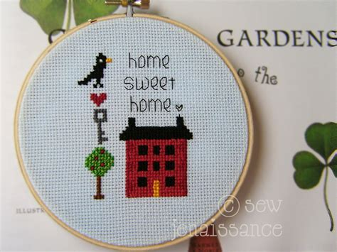 house pattern cross stitch cross stitch mini sler house heart ke by sew jen craftsy