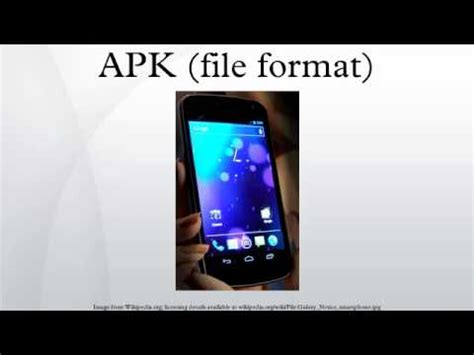 what is apk file format apk file format