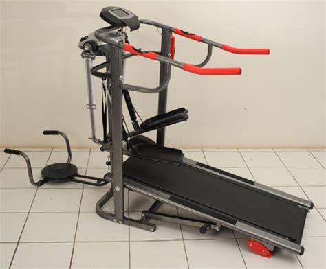 Alat Fitnes Lari treadmill manual bfit 6in1 alat fitnes olahraga lari membakar lemak tubuh