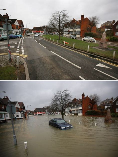 thames river before and after extreme weather solar earth changes strange phenomenon