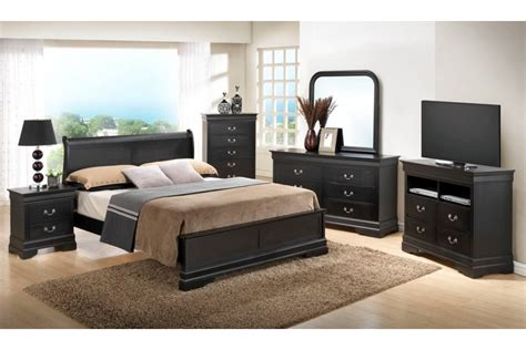 queen size bedroom furniture bedroom sets dawson black queen size platform look