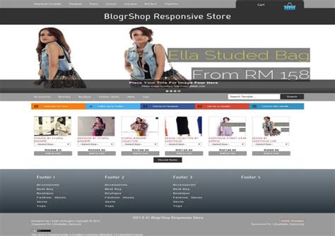 blogger ecommerce template best responsive blogger templates free download