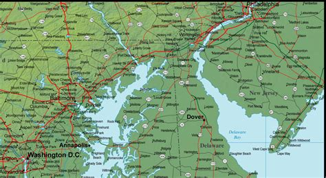 maryland map detailed map of maryland and the surrounding region