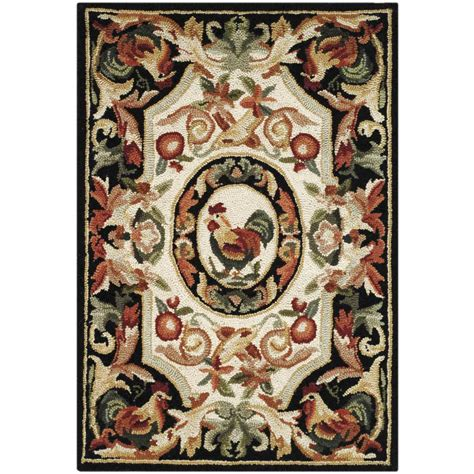 1 X 2 Ft Rug by Safavieh Chelsea Ivory Black 1 Ft 8 In X 2 Ft 6 In