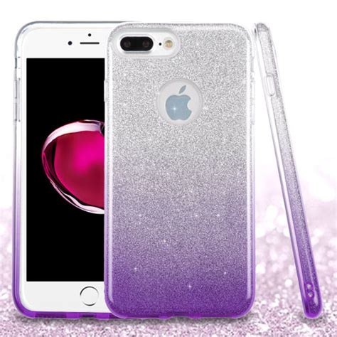 apple iphone   glitter hybrid tpu gradient hard cute case cover ebay