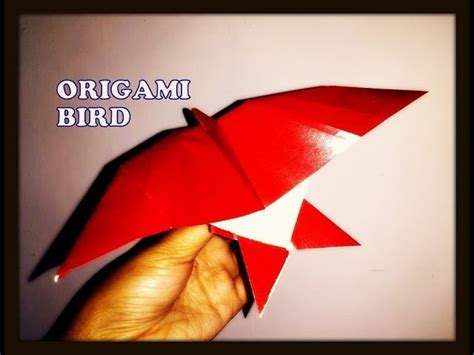 How To Make An Origami Bird That Flies - how to make an origami bird paper bird in flying