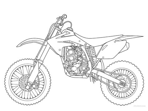 card dirt bike coloring templates printable dirt bike coloring pages for