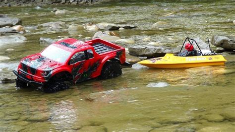 bateau rc jet boat rc adventures ford raptor 4x4 modified nqd jet boat on