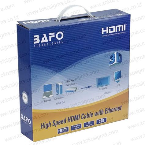 Cable Hdmi 10m 777 by Bafo Kabel Hdmi Ver 2 0 M M 10m Gold 3d Toko Sigma