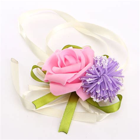 Handmade Wrist Corsage - brides bridesmaid wedding handmade bouquet flowers