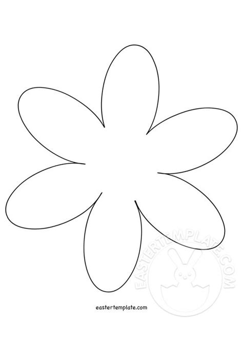 6 petal flower template easter template