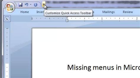 top menu bar disappears how to show or restore the microsoft word ribbon or
