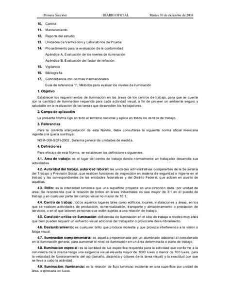 iluminacion stps norma oficial mexicana nom 025 stps 2008 condiciones de