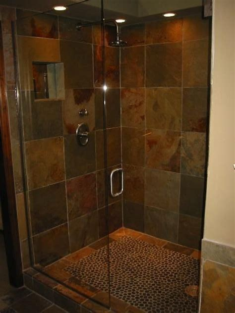 Cheap Bathroom Shower Ideas | slate shower ideas to go with cheap tile i just found at