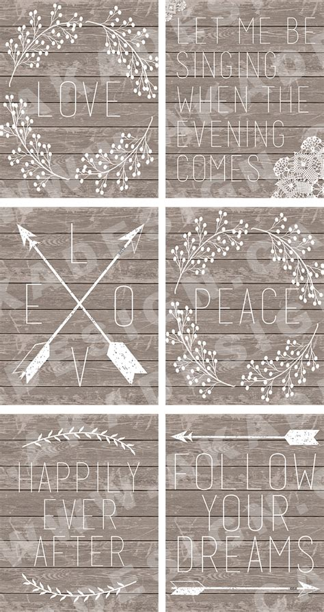 printable rustic art 6 new printables word art with rustic wood arrows laurels