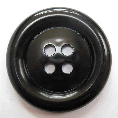 Button Black by Black Button 2 Inches