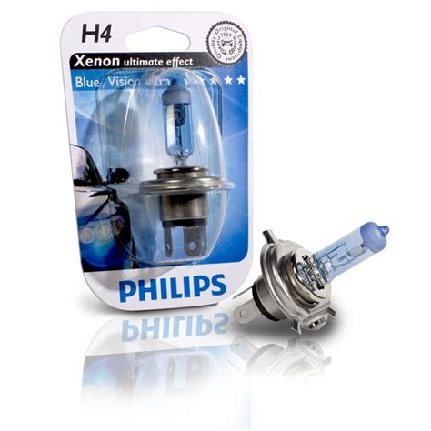 Lu Motor Philips Blue Vision 1 l philips h4 blue vision ultra auto5 be