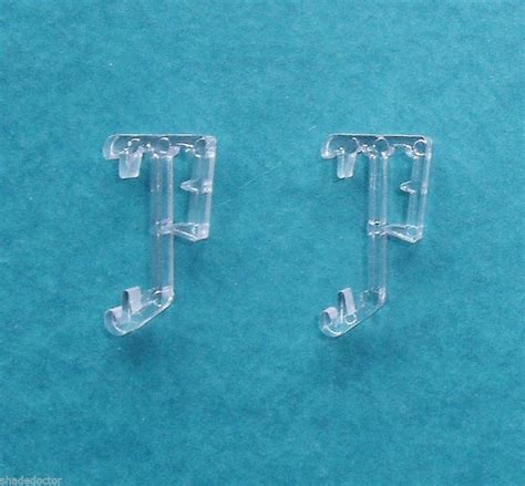 Drapery Cord Replacement One Pair 1 Quot Single Slat Clear Valance Retainer Clips For
