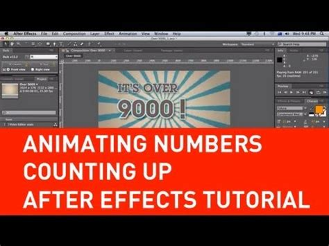 youtube tutorial numbers animating numbers counting up in after effects tutorial