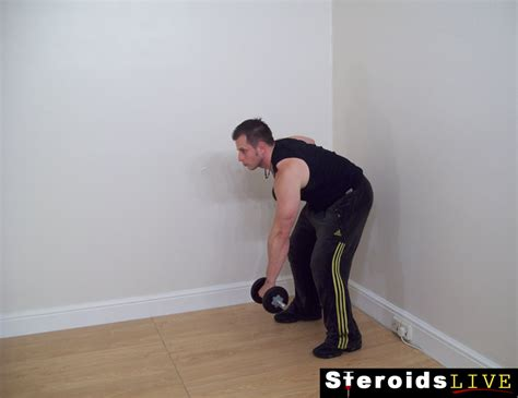 bent knee dumbbell rotation rows  weight  exercise