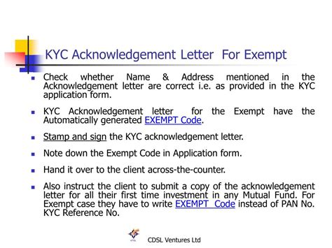 Kyc Acknowledgement Letter Lost Ppt Kyc Compliance Process Powerpoint Presentation Id