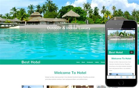 templates for resort website free modern hotel web template and mobile website template