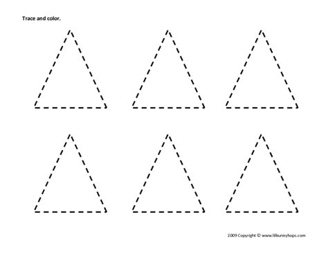 triangle printable worksheets for preschoolers image gallery tracing triangles