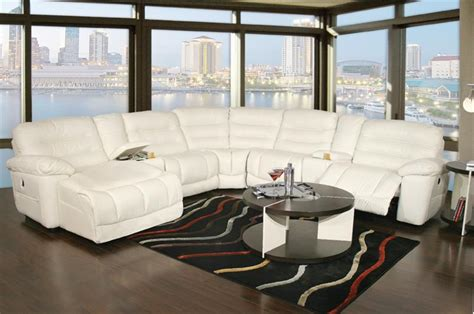 white leather reclining sectional sofa s furniture sectionals