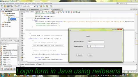 tutorial java web netbeans español java create login frame using netbeans youtube