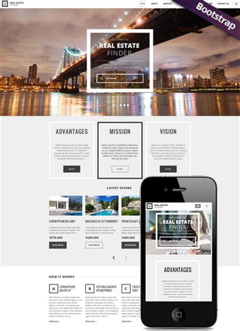 bootstrap templates for real estate free download real estate bootstrap template id 300111782 from