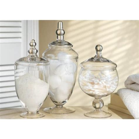 bathroom glass jars plastic apothecary jars a listly list