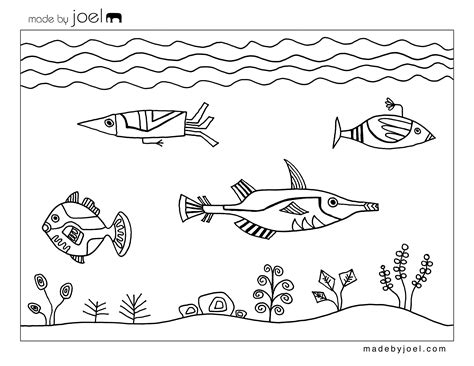 printable coloring pages underwater made by joel 187 free coloring sheets