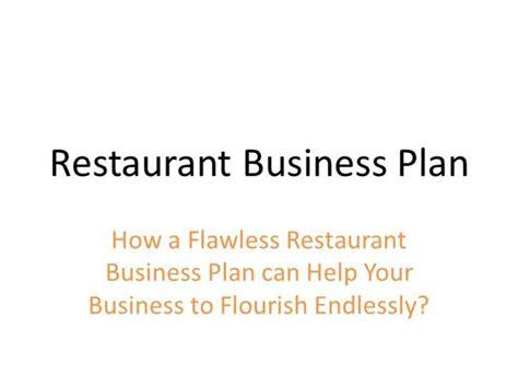 restaurant business plan authorstream