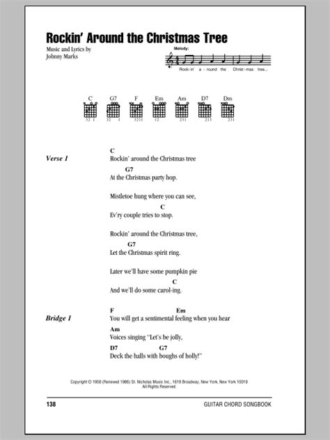 christmas tree lyrics and guitar chords rockin around the tree sheet brenda guitar chords lyrics
