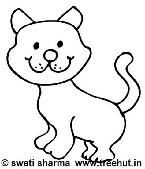 happy cat coloring page cat coloring pages
