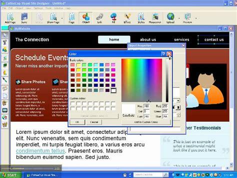 tutorial web builder visual coffee cup visual site designer tutorial 1 youtube