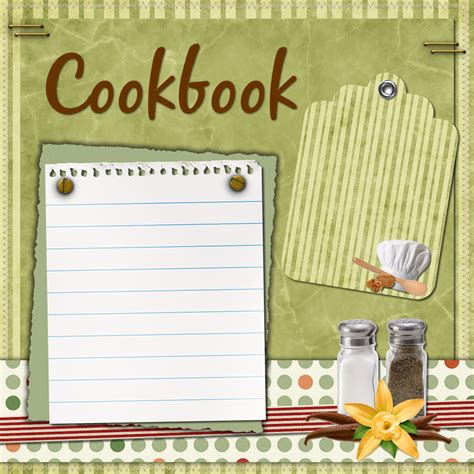 cookbook template digital scrapbooking cookbook recipe freebies and try it