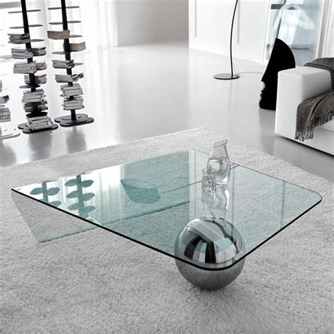 beautiful transparent glass coffee table by pierre lescop