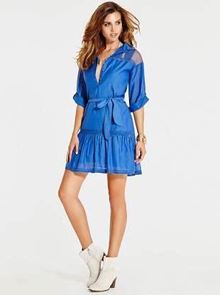 Dress Teresia teresia st tropez three quarter sleeve shirtdress guess