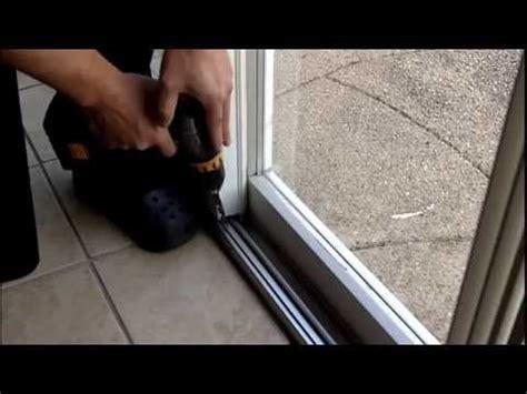 Installing A Patio Door How To Install A Gliding Patio Door Foot Lock