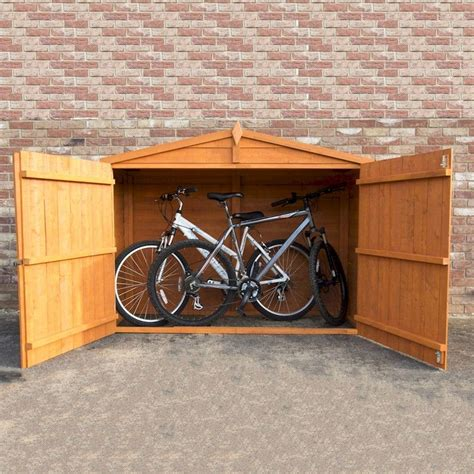 Shire Bike Shed by Shire Overlap Bike Store 7x3 One Garden