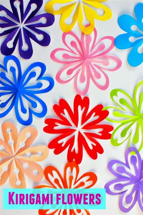 simple paper flower pattern how to make colorful kirigami flowers kirigami super