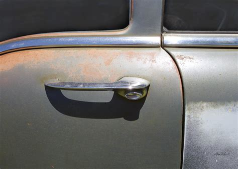 door handle classic car photograph by powell