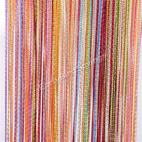 string tassel curtains 6 color colorful door window panel room divider string