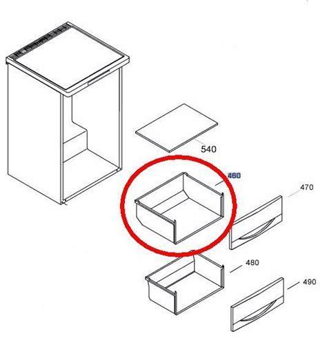 liebherr gefrierschrank schublade korpus mitte oben - Korpus Schublade