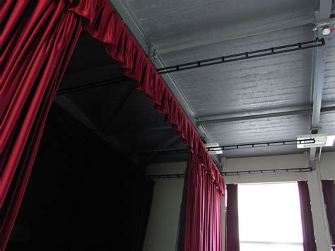 theatrical curtain track stage curtain tracks best home design 2018